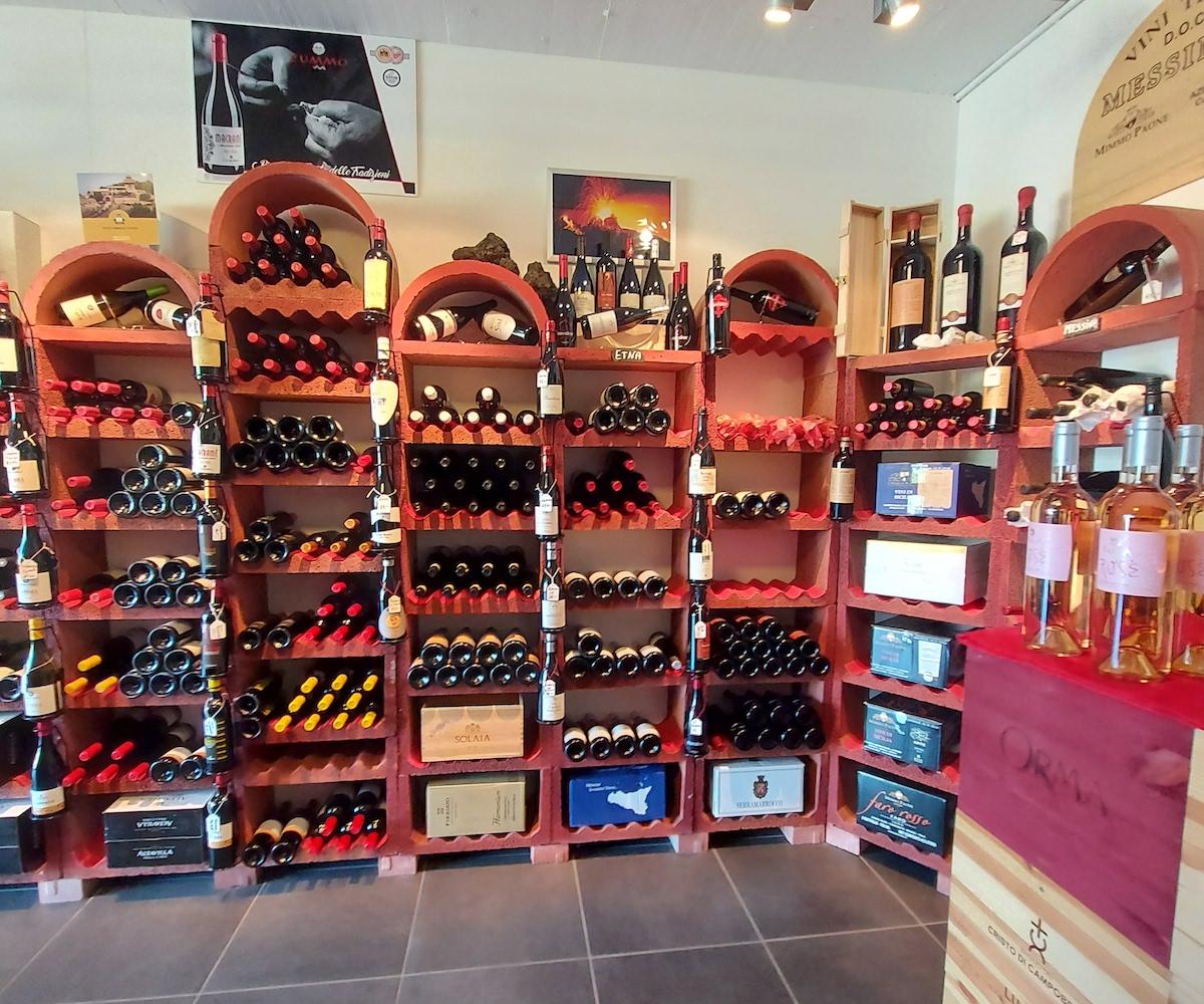 vins de Sicile et d ailleurs entrée du magasin2